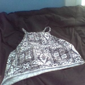 a black and white crop top